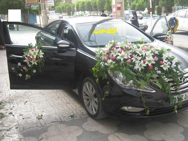 Photo of نمونه کارهای جدید تزئین ماشین عروس ایلدخت ۹۴-۹۵