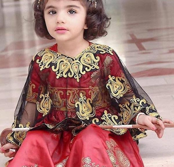 Photo of ۱۵ مدل لباس بندری بچه گانه گلابتونی نفیس