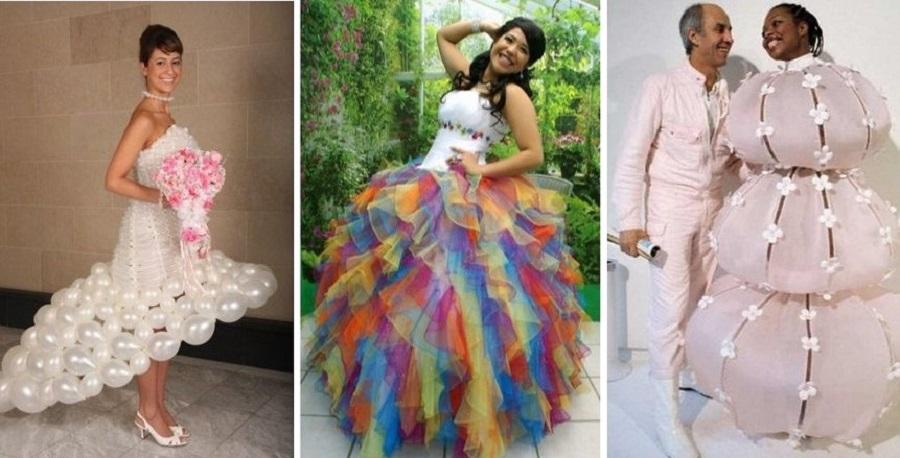 عجیب و غریبترین لباسهای عروس و داماد در دنیا